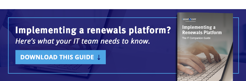 Implementing a Renewals Platform? Here's what your IT Team needs to know.